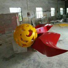 花球形状雕塑 金属花球形状雕塑 金属不锈钢花球形状雕塑厂家