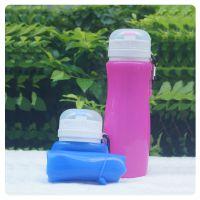 大容量水瓶硅胶防漏户外运动水壶硅胶折叠水壶旅行创意便携水杯
