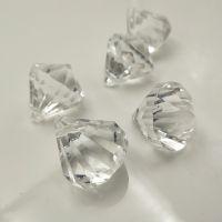厂家供应亚克力仿钻石吊坠 切面仿水晶珠子 透明彩色门帘挂坠批发