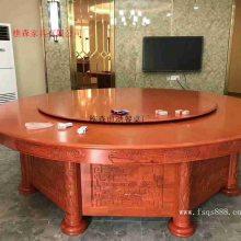 非洲花梨木家用餐桌 红木电动餐桌 电动火锅桌 实木电磁炉火锅桌