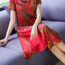 19夏装工厂直销女装桑蚕丝真丝大码女装连衣裙时尚女装批发