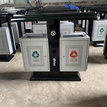 小区分类果皮箱不锈钢果皮箱环卫分类垃圾桶厂家批发