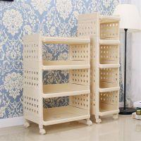 卧室储物架柜子厨房移动置物架带轮夹缝家用可活动整理书架冰箱