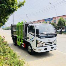 新款国六侧装挂桶压缩垃圾车价格配置