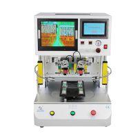 海伦达GZC-MY300双工位旋转平台脉冲焊接机FPC排线焊接脉冲热压机