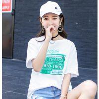 青岛服装批发市场在哪里有3元左右的女装短袖T恤大量新款韩版休闲款式套头