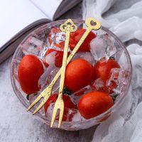 水果叉套装创意可爱不锈钢签果插家用插叉韩式304叉子韩式长柄