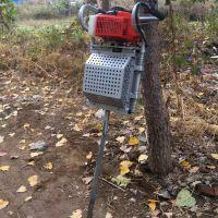 亚博国际真实吗机械 新型手提式挖树机 汽油动力带土球挖树机 链条式打穴起树移苗机