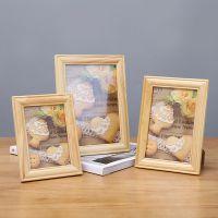 实木创意工艺品摆件儿童相框画框5寸6寸7寸家居桌面装饰木制相框