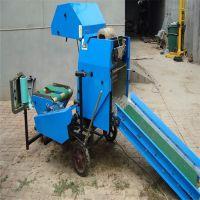 秸秆饲料青储打捆包膜一体机 玉米秸秆粉碎回收机 半自动青储饲料打捆包膜机