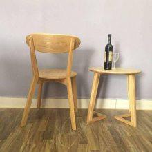 进口白橡实木餐椅厂家 实木交叉椅子 简约实木餐椅子 家用时尚餐椅