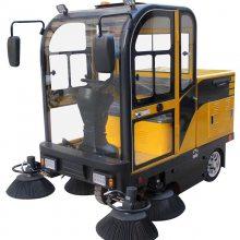 驾驶式清扫车JC1900F 学校操场校园落叶灰尘扫地机 喷水吸尘电动清扫车
