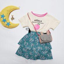 成长脚印夏季朋克特价 网红童装品牌 儿童时髦套装 品牌童装进货