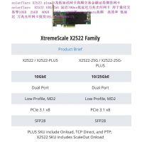 Solarflare X2522-PLUS 25G 700ns FPGA芯片 低延迟万兆光纤网卡