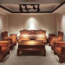 厂家生产一套缅花沙发6件套多少钱 名琢世家
