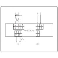 供应爱博精电液晶导轨电表,具备费控功能