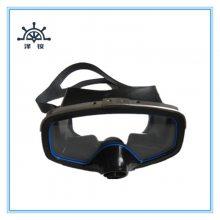 浮潜三宝之专业潜水面镜深潜游泳装备猪鼻阀 硅胶材质成人浮潜面罩防雾
