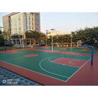 佛山3MM厚硅PU篮球场造价 深圳3毫米厚硅胶地面铺装