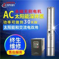 FLA小型太阳能水泵 220V交流光伏深井泵 太阳能交流清水泵