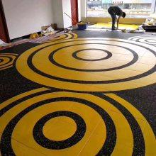PVC运动地板地胶私教地垫商务通透型幼儿园健身房厂家直销