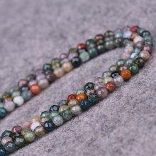 印度玛瑙切面刻面散珠子半成品DIY手工串珠水晶手链饰品配件