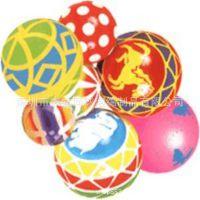 同球定做高弹力40MM PU压力儿童玩具球 PU双色迷你发泡球