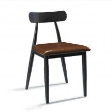 金属铁艺椅子定做,餐厅饭店食堂椅子座椅款式,深圳餐饮家具厂