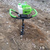 大功率挖坑机 手推框架式挖坑机 后二80注倍投牌柴油钻眼机