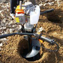 汽油机挖坑机内蒙古呼伦贝尔 电线杆打坑机 宏程直销挖坑机