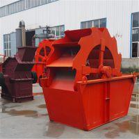 推荐小型洗砂机砂石细砂设备厂家 轮式洗砂机 滚筒式砂石清洗机 久孚机械水力旋流器顺流槽
