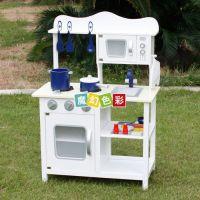 外贸出口儿童扮演角色木制玩具仿真做饭过家家厨房套装灶台组玩具