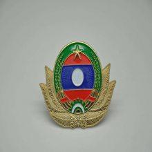 广东金属帽徽定制, 烤漆螺纹扣徽章制作,安防帽徽生产厂