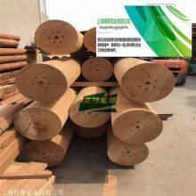 加工菠萝格防腐木圆柱350*350尺寸需要用多大的菠萝格方木车圆