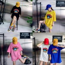 处理夏季纯棉T恤女士上衣韩版女装圆领T恤特价服装批发