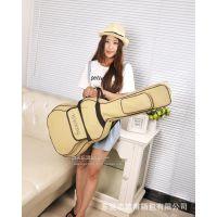 厂家定做批量高档供应加厚迷彩双肩吉他包41寸手提吉他包