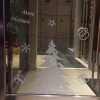 布吉圣诞节透明不褪色橱窗贴纸定制厂家