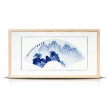 中式实木框装饰画 遮挡电闸电表壁画 齐白石小清新山水画