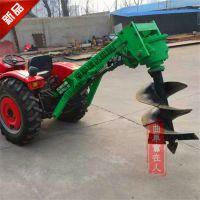 大型自走式拖拉机挖坑机 大棚电线杆埋桩刨坑机