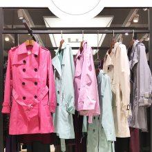英伦风秋冬女装折扣批发 女式外套风衣 品牌女装尾货库存一手货源