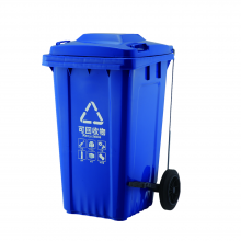 户外垃圾桶240升环卫大号垃圾桶挂车带轮塑料分类240l环卫垃圾桶