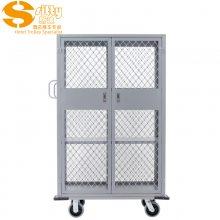 专业生产SITTY斯迪99.3335D-1铝网格铁质带门布巾车/布草车