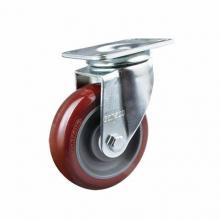 东莞万向轮脚轮批发 中型4寸万向PU轮聚氨酯设备脚轮批发