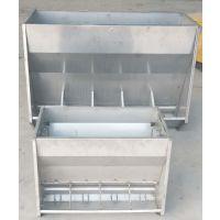 猪用下料器不锈钢料槽 保育双面料槽仔猪喂料器食槽系列