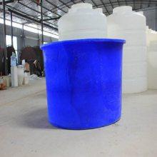 荣昌500L圆桶敞口桶 泡菜桶 养殖桶 腌制桶 塑料圆桶