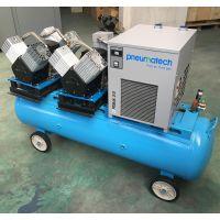节能变频无油无水空压机 气密检测移动式无油空压机 可定制高压