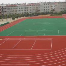 供应广西弹性硅PU球场 材料 体育设施工程施工