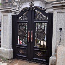 常州别墅大门双开门别墅门子母门庭院大门对开门定制