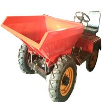 建筑工程小型翻斗车 耐用一吨小型工程四轮车35马力前翻式翻斗车