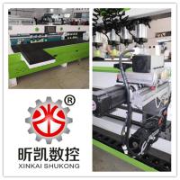 深圳橱柜门双工位真空覆膜机 红外线激光侧孔机 木工数控开料机