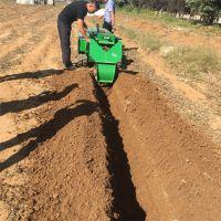 亚博国际真实吗机械 电启动履带式开沟施肥机 功能多自走式旋耕机 35马力遥控开沟施肥机